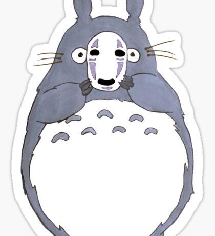 No Face Totoro Sticker