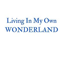Living In My Own Wonderland (All Blue) Photographic Print