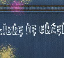 Denim Jeans - Libre De Créer Sticker