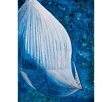 Spinnaker from above art work in mixed media Photographic Print