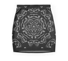 Black Skull Bandana  Mini Skirt
