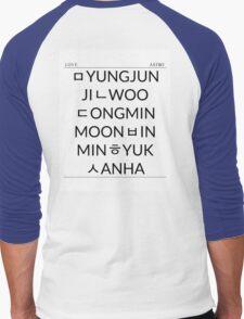 Astro Hangeul List Men's Baseball ¾ T-Shirt
