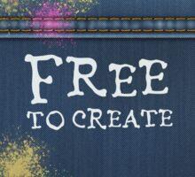 Denim Jeans - Free To Create Sticker