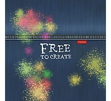 Denim Jeans - Free To Create Photographic Print