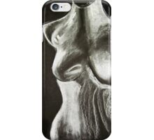 mannequin drawing in chalk on a black background iPhone Case/Skin