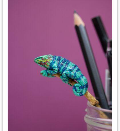 Neon Chameleon Sticker