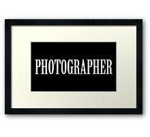 Photographer shirt Framed Print