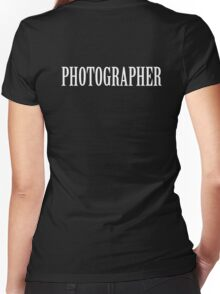Photographer shirt Women's Fitted V-Neck T-Shirt