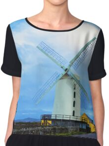 Blennerville Windmill, County Kerry, Ireland Chiffon Top