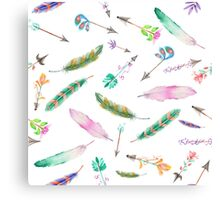 Feathers & Arrows  Canvas Print