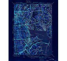 USGS TOPO Map Rhode Island RI East Greenwich 353412 1944 31680 Inverted Photographic Print