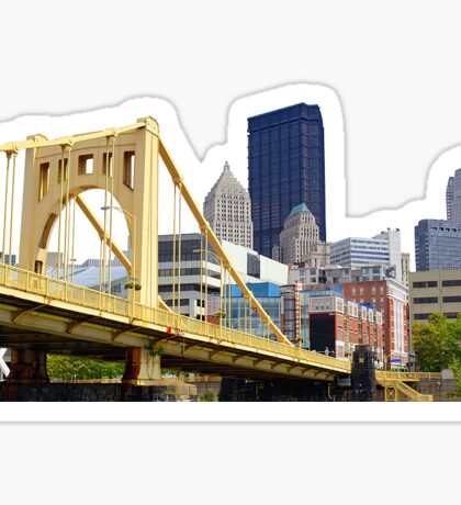 Pittsburgh from an angle Sticker