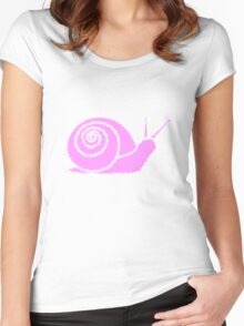 Snail pink Women's Fitted Scoop T-Shirt
