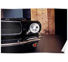 ford mustang front Poster
