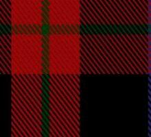 00003 Brown or Grady Clan/Family Tartan  Sticker