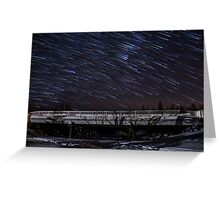 Orion Bridge Startrails Greeting Card