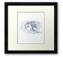 WEEKEND FORECAST - SURFING WITH A CHANCE OF DRINKING Framed Print
