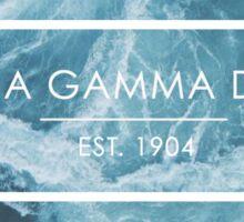 alpha gamma delta ocean Sticker