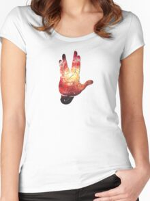 Deep Space Galaxy (Messier 101 Remix) Women's Fitted Scoop T-Shirt