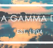 alpha gamma delta sunset Sticker