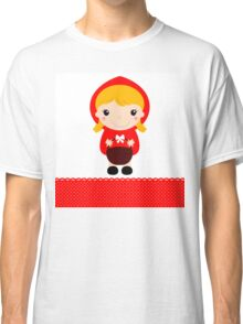 Cute beautiful Red riding hood with basket Classic T-Shirt