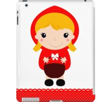Cute beautiful Red riding hood with basket iPad Case/Skin