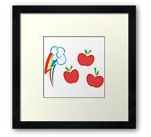 My little Pony - Applejack + Rainbow Dash Cutie Mark V3 Framed Print