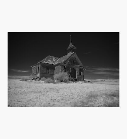Abandoned Schoolhouse Photographic Print