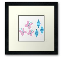My little Pony - Fluttershy + Rarity Cutie Mark V3 Framed Print
