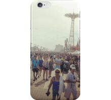 Coney Island Boardwalk in Summer iPhone Case/Skin