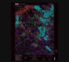USGS TOPO Map New Jersey NJ Woodbury 255010 1995 24000 Inverted Unisex T-Shirt