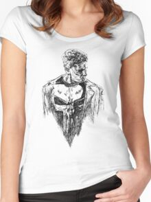 Punisher art Women's Fitted Scoop T-Shirt