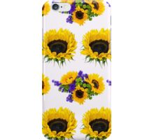 Sunflower Plant, Petals, Leaves - Yellow Green iPhone Case/Skin