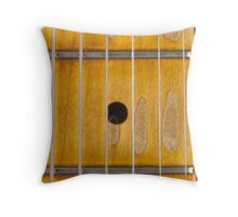 Maple guitar fretboard Throw Pillow