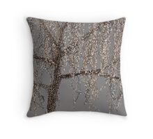 Winter Willow Tree - Dark Throw Pillow