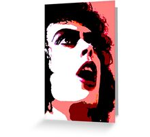 Frank N Furter Andy Warhol Greeting Card