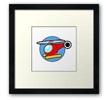 Cartoon Helicopter Framed Print