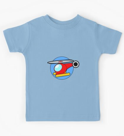 Cartoon Helicopter Kids Tee