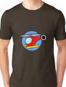 Cartoon Helicopter Unisex T-Shirt