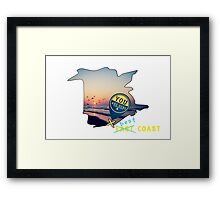 East Coast?  Pashhhaw it's the BEST COAST! Framed Print