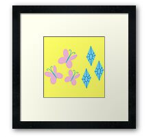 My little Pony - Fluttershy + Rarity Cutie Mark Framed Print