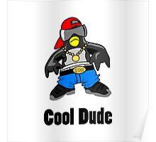 Cool Penguin Rapper Poster