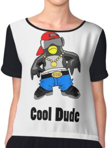 Cool Penguin Rapper Chiffon Top