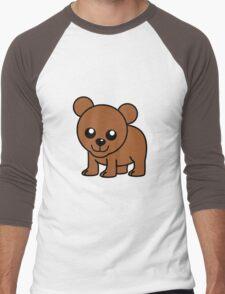 Cute Baby Bear Men's Baseball ¾ T-Shirt