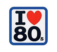 I Heart 80s Photographic Print