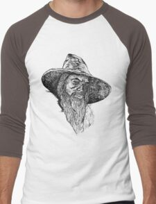 Gandalf The Gray Art Men's Baseball ¾ T-Shirt