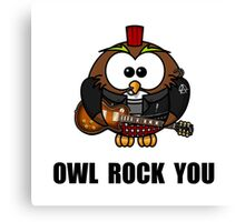 Owl Rock You Canvas Print