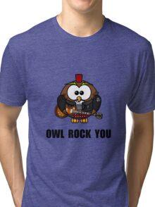 Owl Rock You Tri-blend T-Shirt