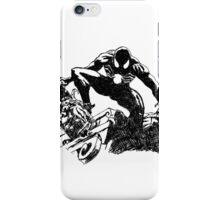 Black Spider-Man (Pen) iPhone Case/Skin