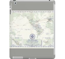 Pan Am (Pan American) Airlines World Route Map Circa 1955 iPad Case/Skin